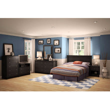 Load image into Gallery viewer, Full / Queen size Headboard in Black Finish - Made in Canada