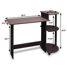 Load image into Gallery viewer, Simple Compact Computer Desk in Espresso Black Finish