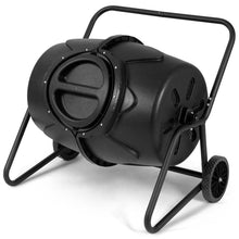 Load image into Gallery viewer, Outdoor Mobile 50-Gallon Compost Bin Tumbler on Wheels
