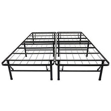 Load image into Gallery viewer, Full size Black Metal Platform Bed Frame
