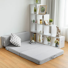 Load image into Gallery viewer, Full XL size 4-inch Thick Folding Sleeper Sofa Mattress Guest Bed