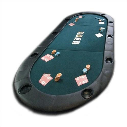 Folding Texas Hold'em Poker Table Top with Cup Holders with Carry Bag