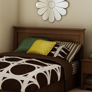 Full / Queen size Contemporary Headboard in Sumptuous Cherry Finish