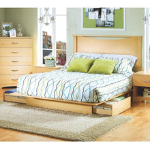 Load image into Gallery viewer, Full / Queen size Headboard in Natural Maple Light Wood Finish
