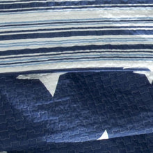 Load image into Gallery viewer, Full / Queen Navy Stars And Stripes At Night Quilt Coverlet Bedspread Set