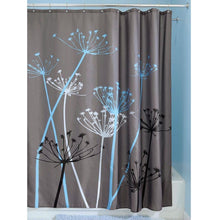 Load image into Gallery viewer, Grey Blue Floral Modern 72 x 72 inch Shower Curtain