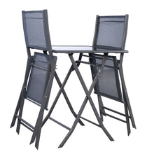 Load image into Gallery viewer, Outdoor 3-Piece Patio Furniture Folding Table Chair Set