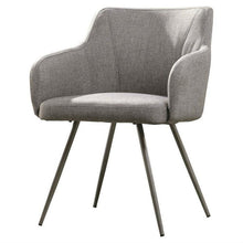 Load image into Gallery viewer, Gray Upholstered Mid-Century Polyester Low Back Armchair Steel Legs
