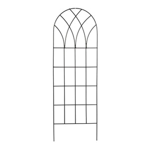 60-inch Gothic Arch Top Metal Wall Trellis for Home Garden
