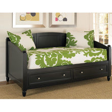 Load image into Gallery viewer, Twin size Black Wood Contemporary Daybed with Storage Drawers