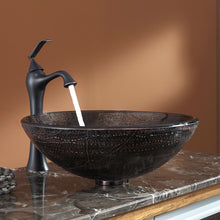 Load image into Gallery viewer, Modern 16.5 inch Round Copper Color Glass Vessel Sink