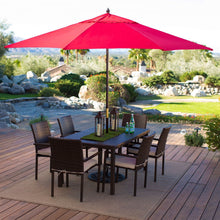 Load image into Gallery viewer, Outdoor Patio 11-Ft Market Umbrella with Red Shade Canopy