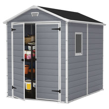 Load image into Gallery viewer, Outdoor 6-ft x 8-ft Storage Shed in Steel Reinforced Polypropylene