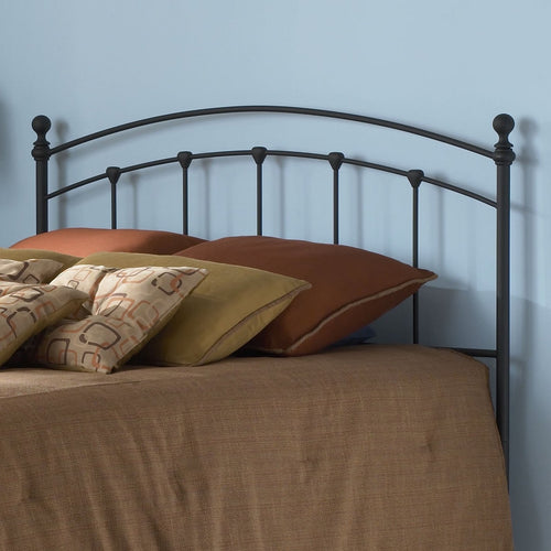 King size Arched Metal Headboard in Matte Black Finish