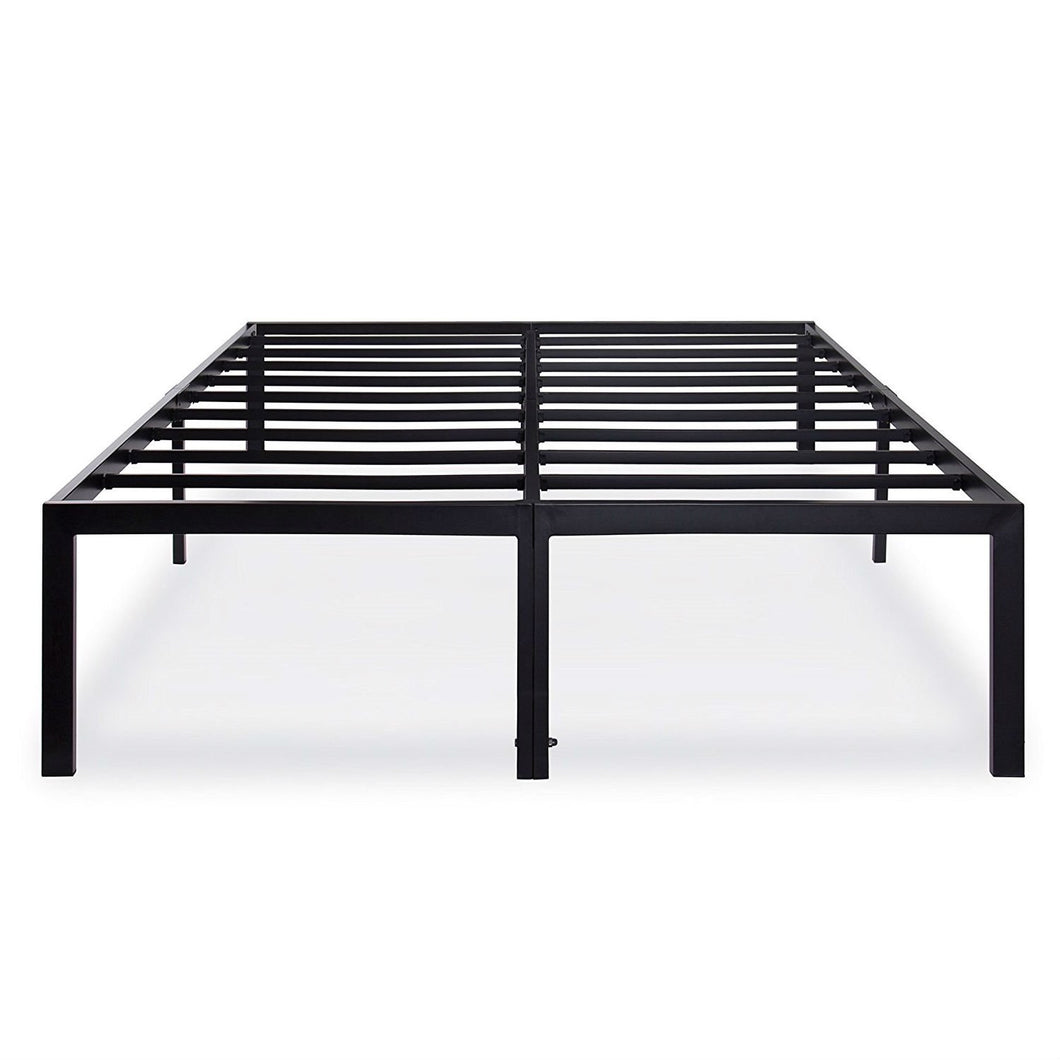King size 18-inch High Rise Heavy Duty Metal Platform Bed Fame with Steel Slats