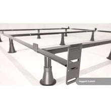 Load image into Gallery viewer, California King size 9-Leg Metal Bed Frame with Headboard Brackets