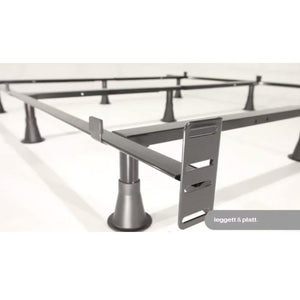 Queen-size 9-Leg Metal Bed Frame with Headboard Brackets