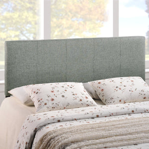 Queen size Padded Textured Fabric Upholstered Headboard in Beige