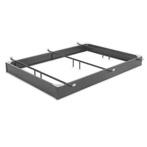 Queen size Hotel Style Steel 7.5-inch High Hospitality Metal Bed Base