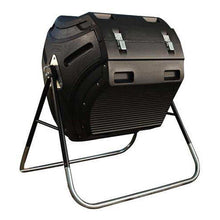Load image into Gallery viewer, Heavy Duty HDPT Plastic 10 cubic ft. Compost Bin Tumbler with Steel Stand