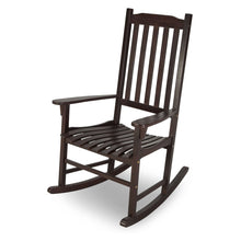 Load image into Gallery viewer, Indoor/Outdoor Patio Porch Dark Brown Slat Rocking Chair
