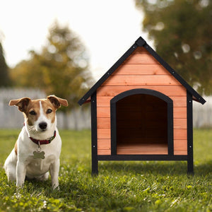 Medium Dog Outdoor Indoor Wooden Pet Room Shelter House