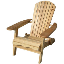 Load image into Gallery viewer, Folding Adirondack Chair for Patio Garden in Natural Wood Finish