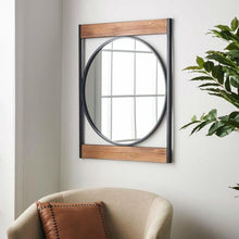 Load image into Gallery viewer, Modern Square Frame Industrial Metal Circle Wall Mirror