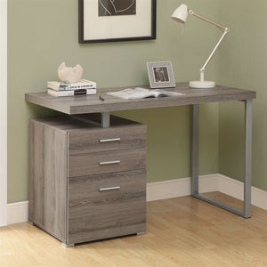 Modern Left or Right Facing Home Office Computer Desk in Dark Taupe