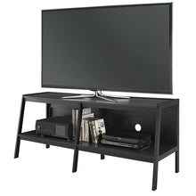 Load image into Gallery viewer, Modern 60-inch Ladder Style TV Stand in Black Finish