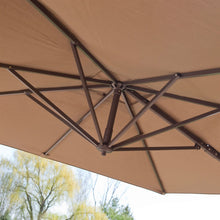 Load image into Gallery viewer, Modern 8.5-Ft Offset Cantilever Square Patio Umbrella  with Mocha Shade