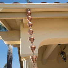 Load image into Gallery viewer, Pure Copper 8.5 Ft Rain Chain Stepped Cups Rainwater Downspout