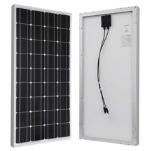 Load image into Gallery viewer, 100-Watt Solar Panel Great for 12-Volt Battery Charging RV Camping Off-Grid