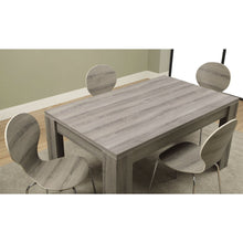 Load image into Gallery viewer, Modern Block Leg Rectangular Dining Table in Dark Taupe Wood Finish