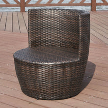 Load image into Gallery viewer, Modern 3-Piece Stackable Rattan Patio Furniture Set with Cushions