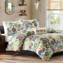 Load image into Gallery viewer, King size Multi Color Paisley 4 Piece Bed Bag Comforter Set
