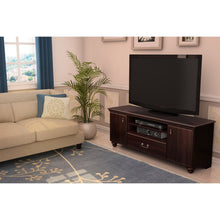 Load image into Gallery viewer, Traditional Style TV Stand in Dark Mahogany Finish - Fits TVs up to 60-inch