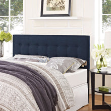 Load image into Gallery viewer, Full size Navy Fabric Modern Upholstered Headboard