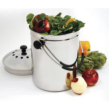 Load image into Gallery viewer, Stainless Steel Kitchen Compost Keeper Bin with Charcoal Filter