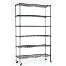 Load image into Gallery viewer, Heavy Duty 6-Shelf Adjustable Metal Shelving Rack with Casters