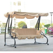 Load image into Gallery viewer, Outdoor Canopy Swing Patio Porch Shade Deck Bed in Sand