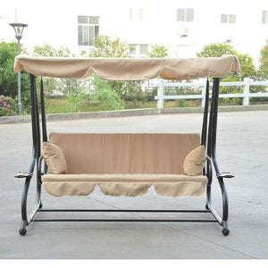 Outdoor Canopy Swing Patio Porch Shade Deck Bed in Sand