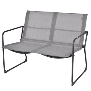 Outdoor Black Steel Frame 4-Piece Patio Furniture Set