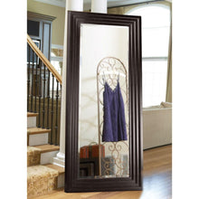 Load image into Gallery viewer, Oversized Full Length Floor Mirror with Espresso Wood Frame