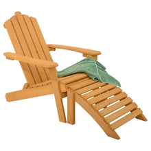 Load image into Gallery viewer, Folding Wooden Adirondack Chair with Foot Rest Ottoman