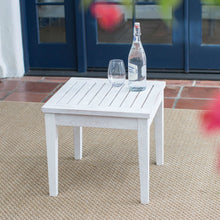 Load image into Gallery viewer, Outdoor Garden Deck Patio Side Table in White Wood Finish