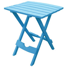 Load image into Gallery viewer, Pool Blue Folding Side Table in Durable Patio Furniture Plastic Resin