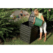 Load image into Gallery viewer, UV-Resistant Black Recycled Plastic Compost Bin with Lid - 79 Gallon