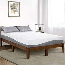 Load image into Gallery viewer, Full size Solid Wood Platform Bed Frame in Brown Natural Finish