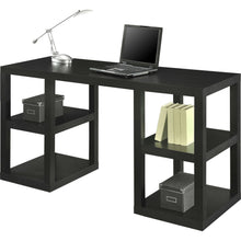 Load image into Gallery viewer, Modern Home Office Computer Desk in Black Oak Wood Finish